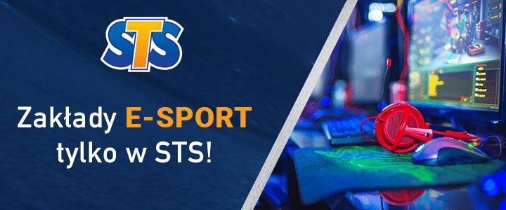 Zakłady E-sportowe w STS u jednego z legalnych bukmacherów w Polsce